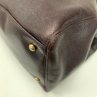 Authentic Chanel Plum Deerskin Executive Tote