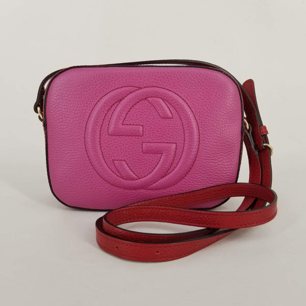 Gucci Red/Pink Bi-Colour Soho Disco