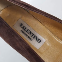Authentic Valentino Brown Suede Heels Women's Size 40.5 / 9.5