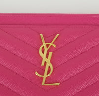 Authentic Saint Laurent Fresh Fuxia Monogramme Pouch