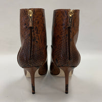 Authentic Jimmy Choo Beyla 85 Snake Print Leather Boots Sz 37.5