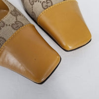 Authentic Gucci Gold Guccissima Low Heels Sz 9.5