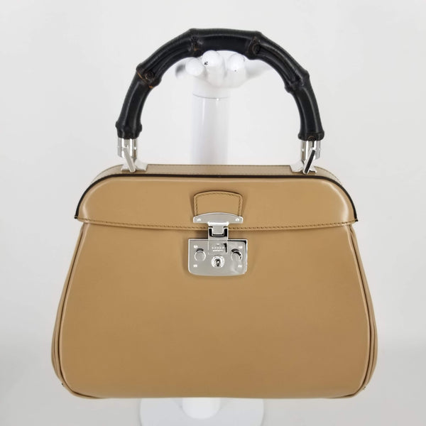 Authentic Gucci Tan Lady Medium Bamboo Top Handle