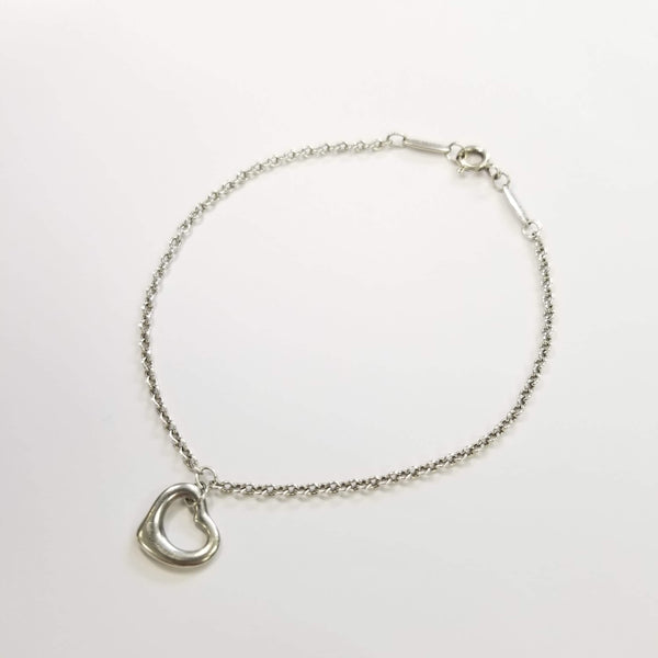Authentic Tiffany & Co. Elsa Perretti Silver Open Heart Bracelet
