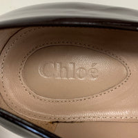 Authentic Chloe Plum Patent Loafers