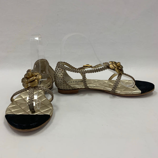Authentic Gold Camillia Sandals