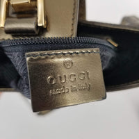 Authentic Gucci Metallic Leather Mini Jackie Bag