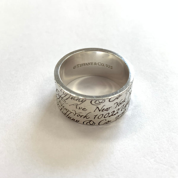 Authentic Tiffany & Co Sterling Silver Note Ring
