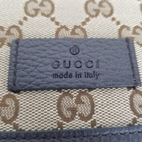 Authentic Gucci Brown Supreme Canvas Messenger Flap Bag
