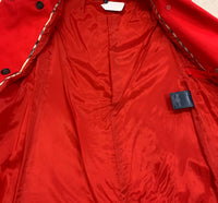 Authentic Burberry Red Classic Cotton Car Coat Sz 2