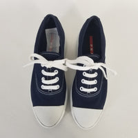 Authentic Prada Navy Platform Sneakers