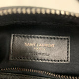 Authentic Saint Laurent Black Croc Camera Bag