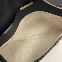 Authentic Victoria Beckham Black Python Envelope Clutch