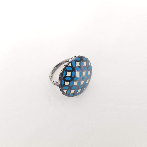 Authentic John Hardy Enamel Kawung Ring