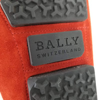 Authentic Bally Red Suede Wabler Driving Loafers
