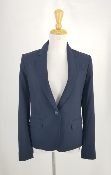 Authentic Theory Navy Blue One Button Blazer