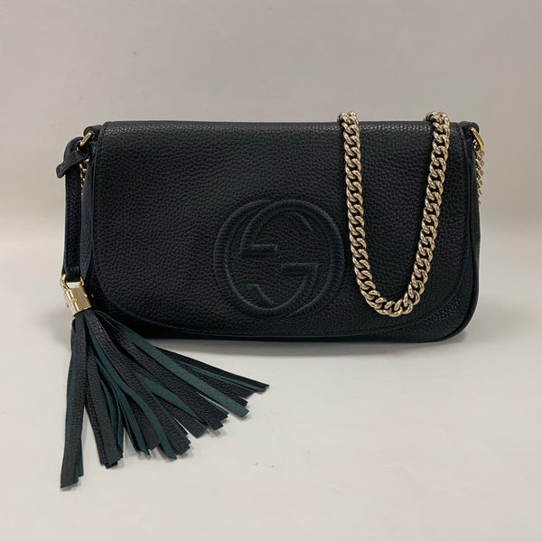 Gucci Black Soho Flap Bag with Tassel