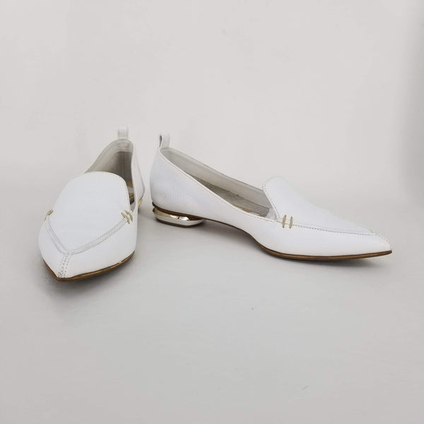 Authentic Nicholas Kirkwood Ivory Leather Loafers