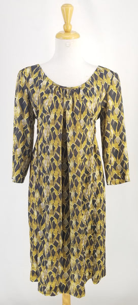 Authentic Comrags Mustard/Black long Sleeve Dress Sz XL