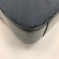 Authentic Gucci Black Canvas Shoulder Bag