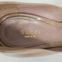Authentic Gucci Patent Rose Beige Platform Pumps