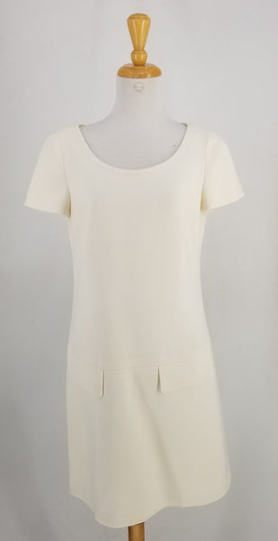 Authentic Prada Ivory Short Sleeve Dress Sz 6
