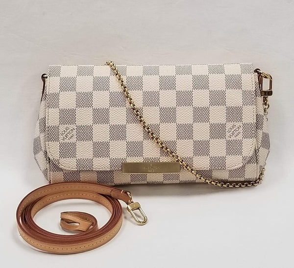 Authentic Louis Vuitton Damier Azur Favorite PM