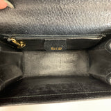 Authentic Gucci Black Leather Padlock Bag