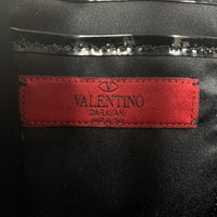 Authentic Valentino Calf Skin Rock Stud Top Handle Clutch