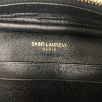Authentic Saint Laurent Black Super Mini Camera Bag with Tassel