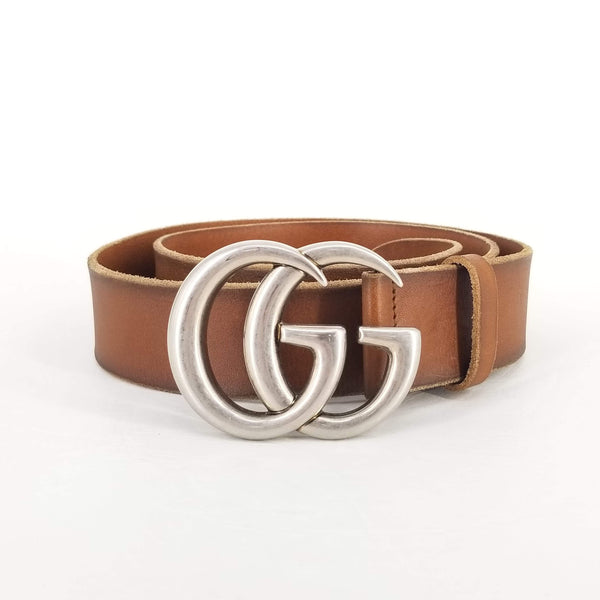 Authentic Gucci Brown Leather Marmont Belt