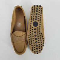 Authentic Gucci Gold Suede Driving Shoes