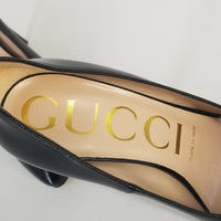 Authentic Gucci Black Patent Pumps