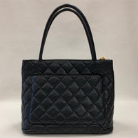 Authentic Chanel Black Caviar Medallion Tote