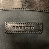 Authentic Givenchy Black Goatskin Antigona Envelope Clutch