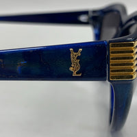 Authentic Saint Laurent Blue Marbled Sunglasses