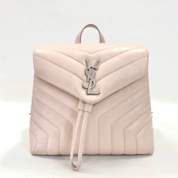 Authentic Saint Laurent Pink Smooth Leather LouLou Backpack