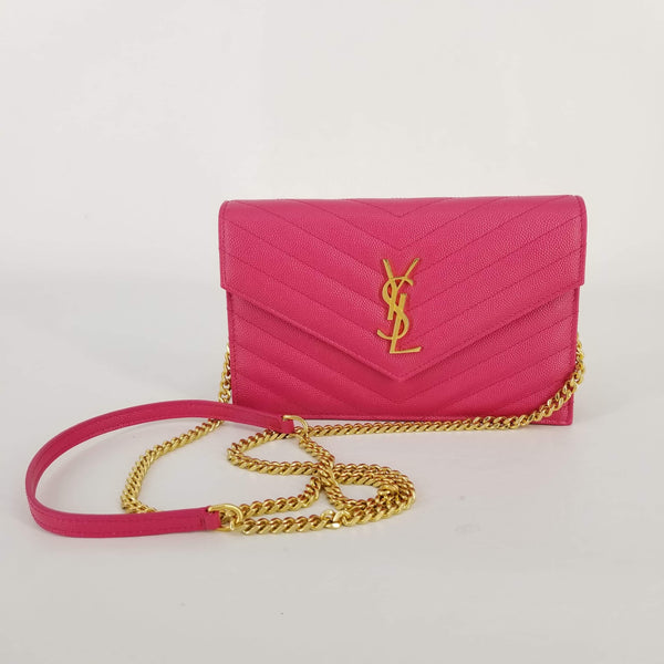 Authentic Saint Laurent Fresh Fuxia Small WOC