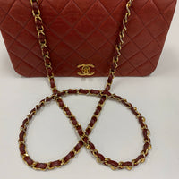 "Authentic Chanel Red 9"" Full Flap"