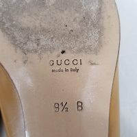 Authentic Gucci Gold Low Heel Pumps Sz 9.5
