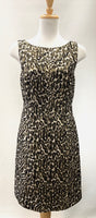 Authentic Tory Burch Black/Gold Animal Print Dress Sz 4