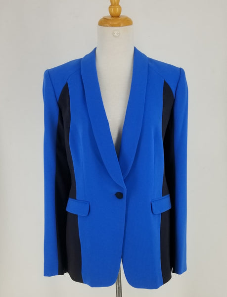 Authentic Rag and Bone Jefferson Blue and Black Blazer