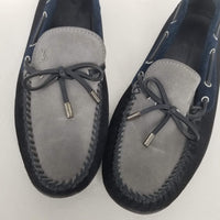 Authentic Louis Vuitton Black/Grey/Navy Suede Moccasin Driving Loafers
