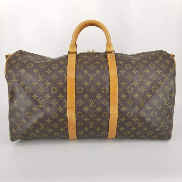 Authentic Louis Vuitton Monogram Keepall Bandouliere 55