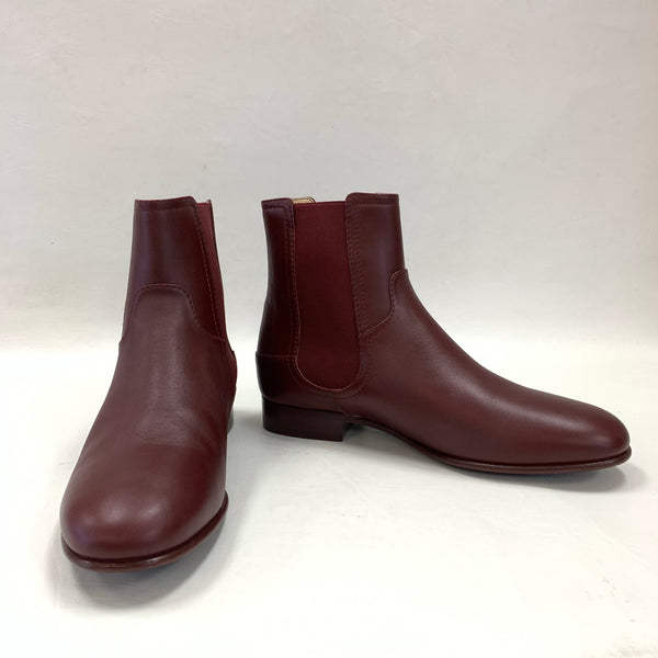 Authentic Chanel 16A Burgundy Leather Booties