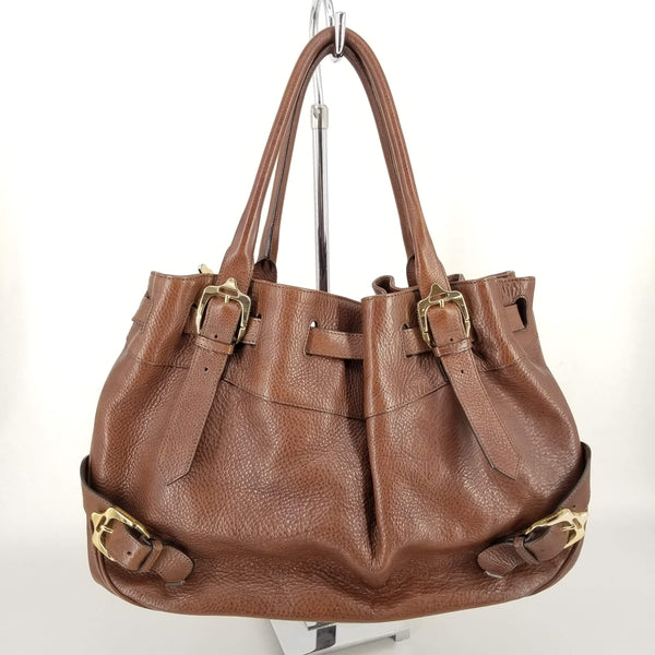 Authentic Burberry Brown Large Leather Tote