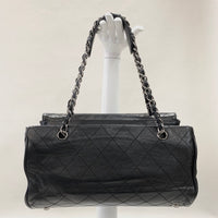 Authentic Chanel Black Lambskin Kisslock Bag