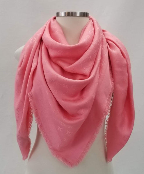 Authentic Louis Vuitton Salmon Silk/Wool Shawl