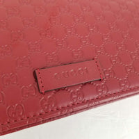 Authentic Gucci Red Guccissima Leather Margeaux