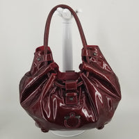 Authentic Salvatore Ferragamo Bordeaux Patent Tote